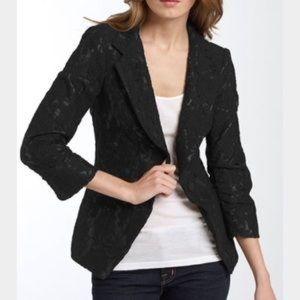 NWOT Kenna T Black Lace Structured Blazer Large
